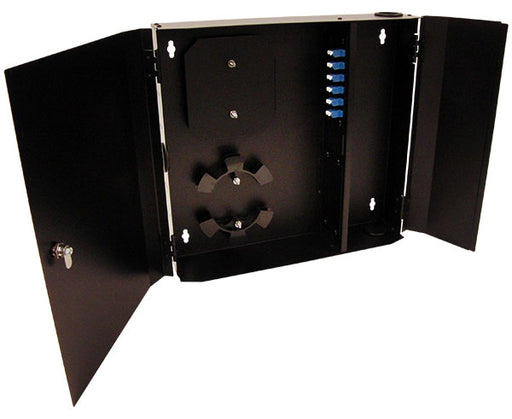 Fiber Wall Mount Enclosure, 12 Port, Single Mode LC Duplex