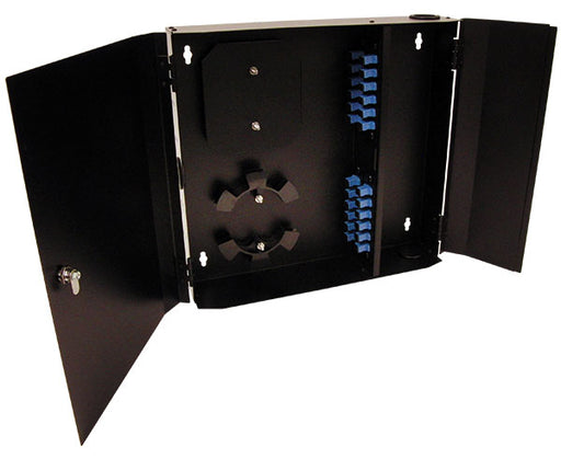 Fiber Wall Mount Enclosure, 24 Port, Single Mode SC Simplex