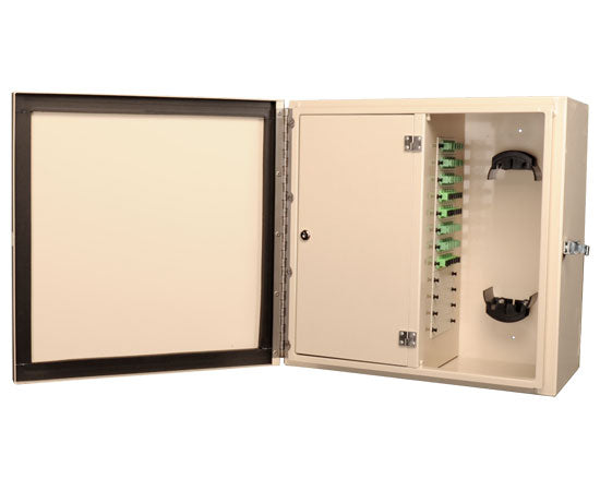 Wall Mount Fiber Patch Panel, NEMA 1 & 4 Rated, Up to 144 Ports