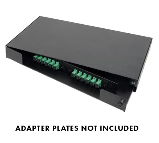 Fiber Patch and Splice Panel, Swing-Out, 1U, 2 Adapter Panel Capacity