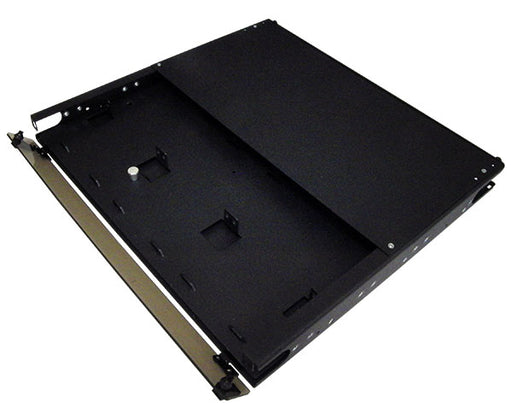 High Density Slide-Out Patch Panel, Rack Mount 1RU, 3 Adapter Panel & 2 Splice Tray Capacity