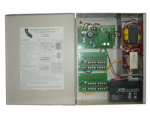 18 Output 12VDC Power Supply Box