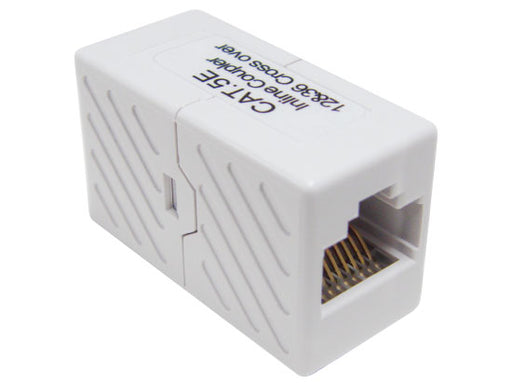 CAT 5E RJ45 Crossover Coupler, White