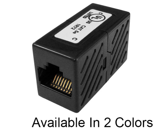 CAT 5E Unshielded Inline Coupler Black