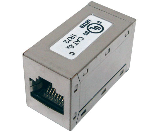 CAT6A RJ45 Inline Coupler, Shielded