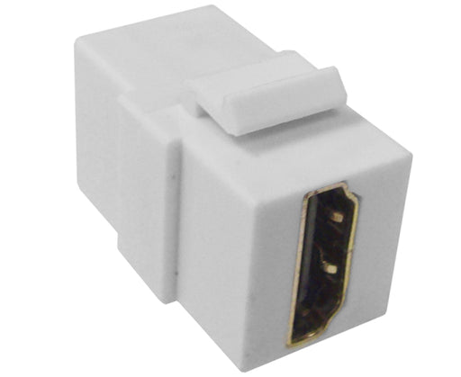 HDMI Coupler Keystone Jack - White