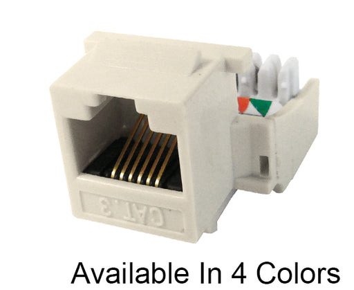 CAT 3 RJ11 RJ12 Keystone Jack, H Style, Gold Plated, 110 type