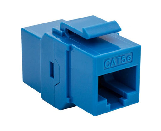 CAT5E Inline Coupler, Unshielded, Snap-In w/Keystone Latch, Overstock