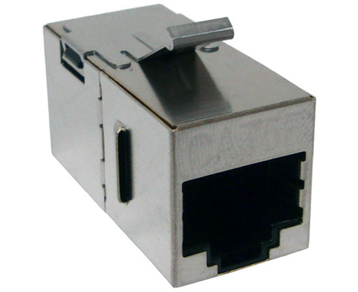 CAT5E Shielded Snap-In Coupler w/Keystone Latch