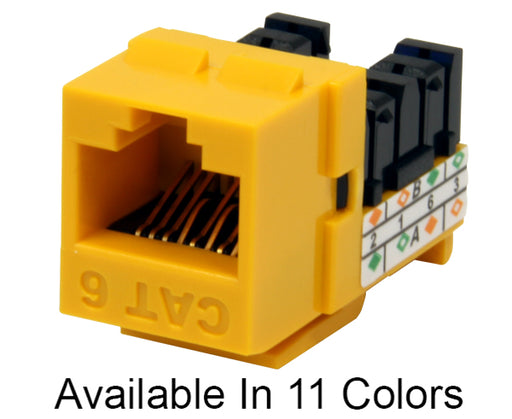 MIG6+ High Density CAT6 Keystone Jack RJ45 8x8 90™ IDC Contacts