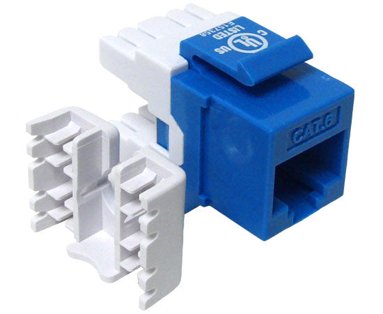 CAT6 MIG+ RJ45 Keystone Jack, Unshielded, Component Rated, High Density