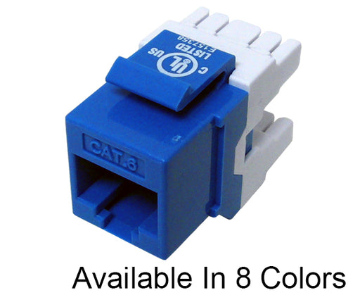 CAT 6 Keystone Jack, MIG+ Component Rated 180™ High Density Data Jack