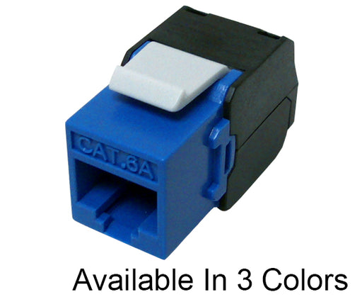 CAT 6A Keystone Jack, 10G MIG+ High Density Component Rated 180™ Ethernet Jack