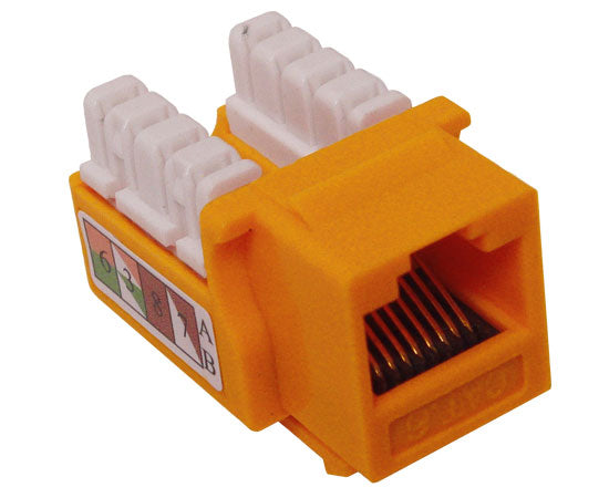 CAT6 Punch Down Keystone Jack, Unshielded, U-Style