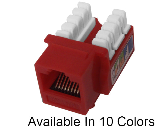 CAT 6 Keystone Jack, U-Style Ethernet Data Jack