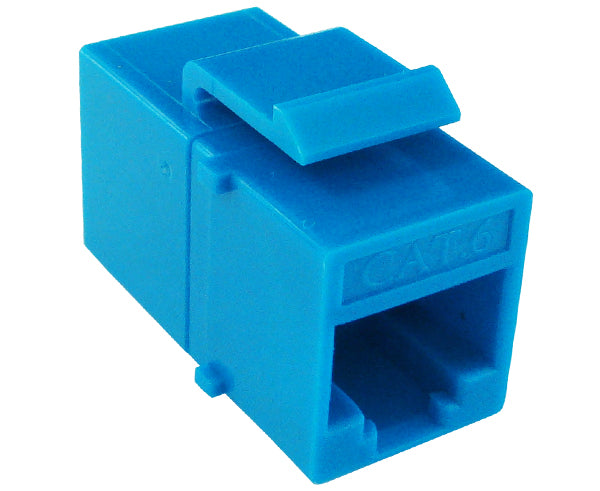 CAT6 RJ45 Inline Coupler, Unshielded, Snap-In w/Latch