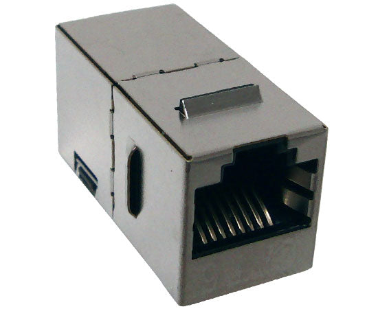Shielded Slim CAT6 Keystone Coupler, Snap-In with Latch