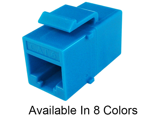 RJ45 CAT 6 Keystone Coupler, Inline Coupler, Slim