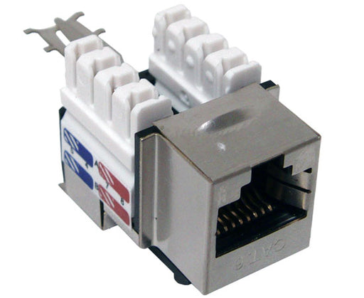 CAT6 RJ45 Shielded 110 Type Keystone Jack 8P8C