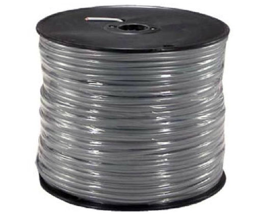 Flat Modular Silver Satin Cable, 4 Conductors - 1000'