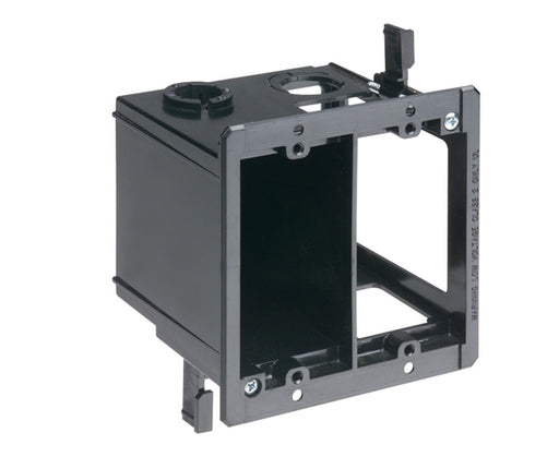 Two Gang Power & Low Voltage Box for Existing Construction - Black