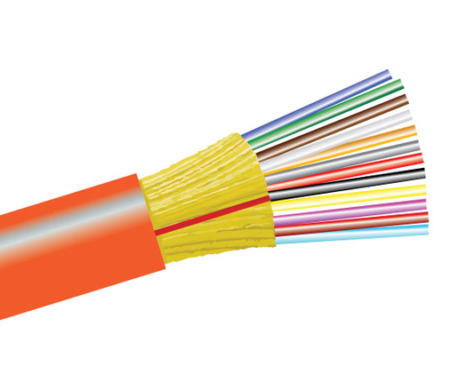 Tight Buffer Distribution Plenum Fiber Optic Cable, Multimode, OM1, Indoor