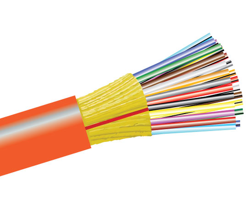 Tight Buffer Distribution Plenum Fiber Optic Cable, Multimode, OM1, Indoor/Outdoor
