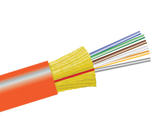 Fiber Optic Cable, 6 Strand, Multimode, 62.5/125 OM1, Indoor Distribution, Riser