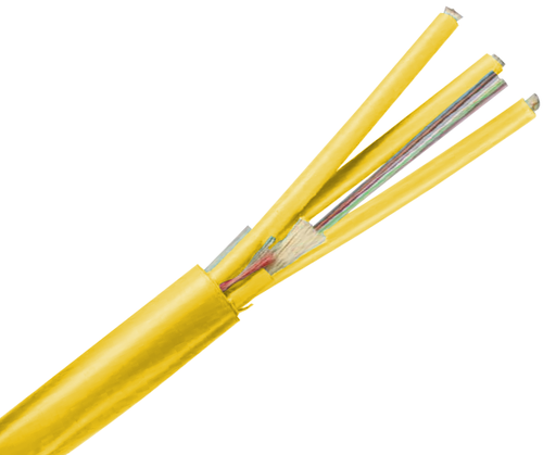 Fiber Optic Cable, Single Mode, 9/125, Corning Fiber, Indoor Micro-Distribution, Riser