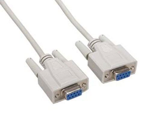 Null Modem Cable, DB9-F/F, 25FT