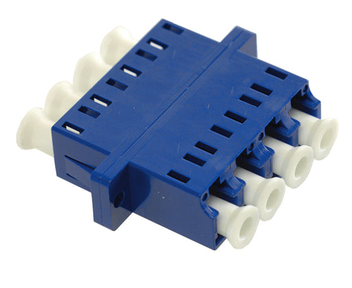 LC/UPC Quad Single Mode Fiber Adapter/Coupler with SC Duplex Footprint