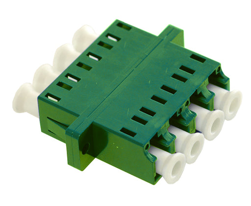 LC/APC Quad Single Mode Fiber Adapter/Coupler with SC Duplex Footprint