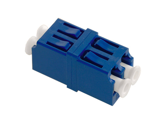 LC/UPC Duplex Single Mode Fiber Adapter/Coupler with LC Duplex Footprint