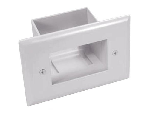 Recessed Low Voltage Cable Plate, Easy Mount