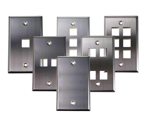 Stainless Steel Keystone Wall Plate, Single-Gang