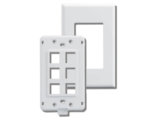 Screwless Keystone Wall Plate, Single-Gang