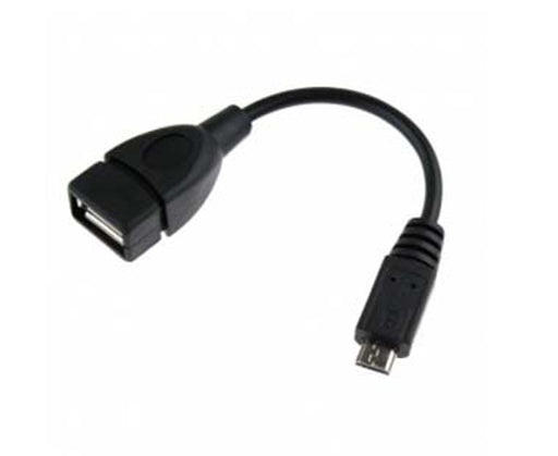 USB 2.0 Adapter Cable, Micro B Male/A-Male, 6-inch