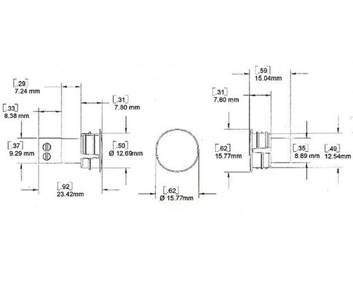 Switch (Only), Recessed 1/2""