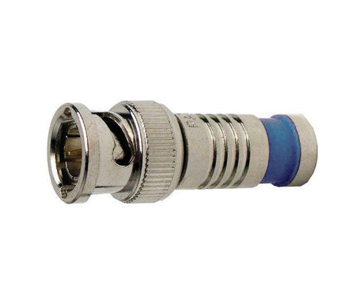 BNC RG6 Quad Nickel SealSmart Coaxial Compression Connectors