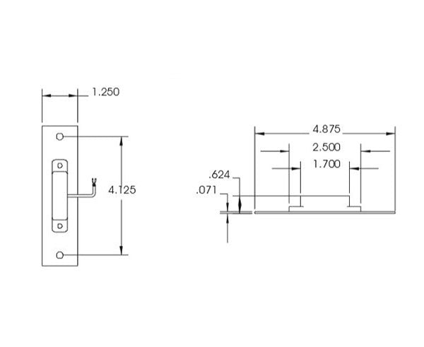 Recessed ANSI Switch (UL listed), Tamper Resistant
