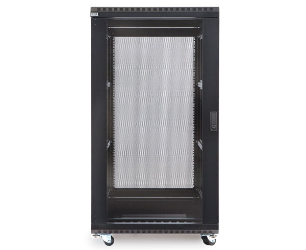 "Network Rack, Server Enclosure, Glass/Solid Doors, Up to 42U - 36"" Depth 2 of 6"