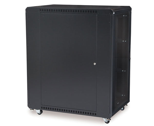 "Network Rack, Server Enclosure, Glass/Solid Doors, Up to 42U - 36"" Depth 3 of 6"