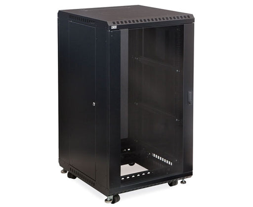 "Network Rack, Server Enclosure, Glass/Glass Doors, Up to 42U - 24"" & 36"" Depth 1 of 5"