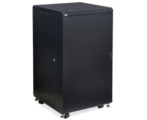 "Network Rack, Server Enclosure, Solid/Solid Doors - 22U, 27U, 37U & 42U - 24"" & 36"" Depth 1 of 6"