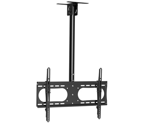 "LED, LCD & Plasma Flat TV Ceiling Mount 37"" to 65"" Tilt w/ Adjustable Pole Angle, Black"