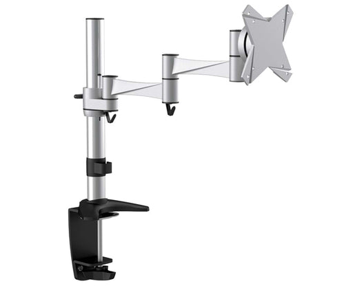 "TV & Monitor Desk Mount 13"" to 23"" Tilt & Swivel, Full Motion, Silver"