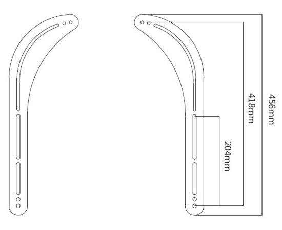 Universal Sound Bar Mounting Bracket 1-pair (left/right) Spec.