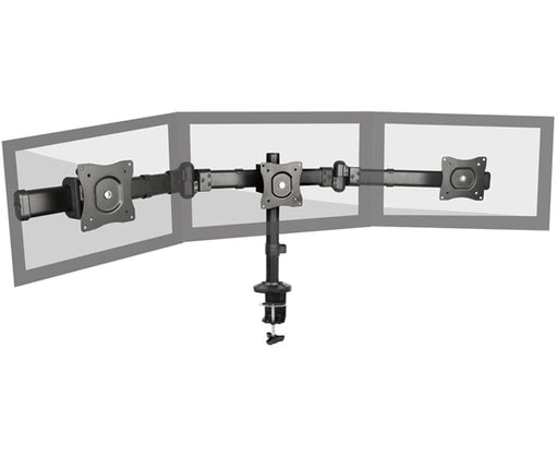 "Triple Monitor Desk-mount Stand/TV Mount, 13""~27"", Tilt & Swivel, Full Motion"