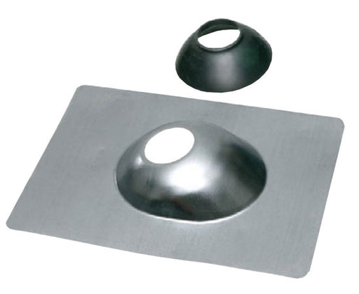 "Roof Flashing Galvanized steel with neoprene seal. 10-3/4"" x 14-1/2"" x 22 gauge"