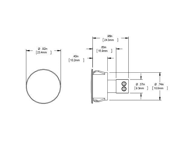 "Switch (Only), Steel Door Recessed 3/4"" Or 1"" Short STUBBY w/ Screw Terminals - Closed Loop - 10 Pack"